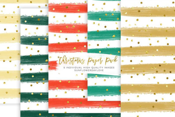 Print on Demand: Christmas Digital Scrapbook Clip Art Graphic Illustrations By SunflowerLove