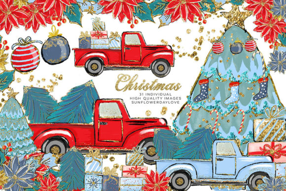 Print on Demand: Cozy Christmas Illustration Clipart Graphic Illustrations By SunflowerLove