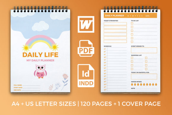 Print on Demand: Daily Planner – KDP Interior - Schedule Graphic KDP Interiors By OWPictures