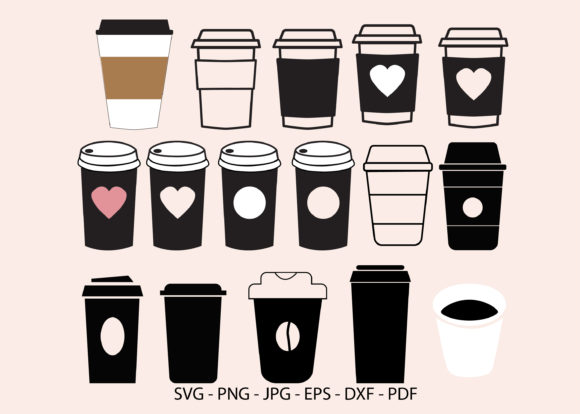 Disposable Coffee Cup Graphic Crafts By RedCreations