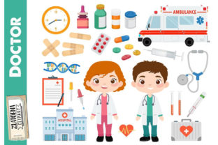 Doctor Clipart Medical Digital Clip Graphic Illustrations By Zlatoena Clipart