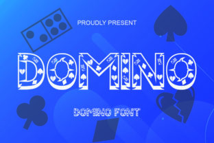 Print on Demand: Domino Display Font By Sealoung