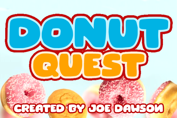 Print on Demand: Donut Quest Display Font By Joe Dawson