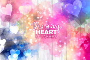 Print on Demand: Dreamy Love Heart Romantic Splashes Graphic Patterns By Prawny