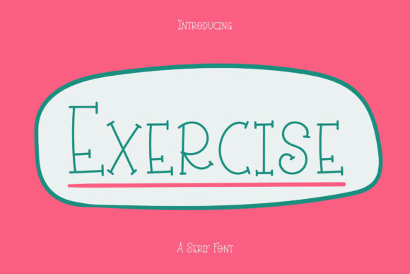 Print on Demand: Exercise Script & Handwritten Font By Wanida Toffy