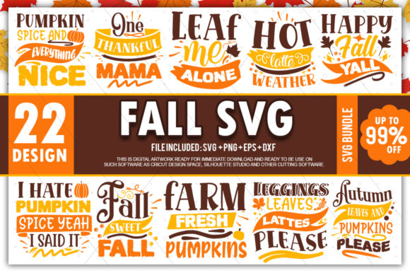 Print on Demand: Fall Bundle Graphic Crafts By PrintableSvg