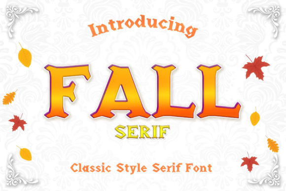 Print on Demand: Fall Serif Font By numnim