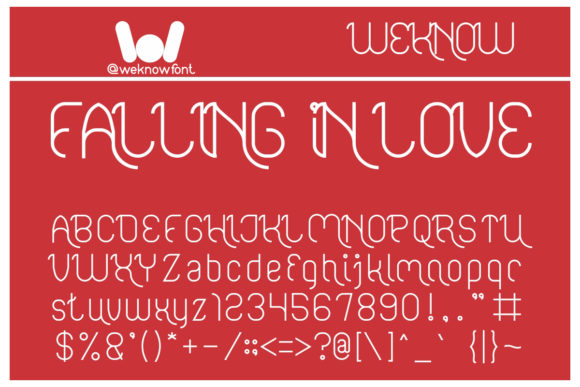 Print on Demand: Falling in Love Display Font By weknow