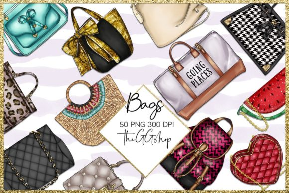 Print on Demand: Fashion Bag Clipart Collection Graphic Illustrations By TheGGShop