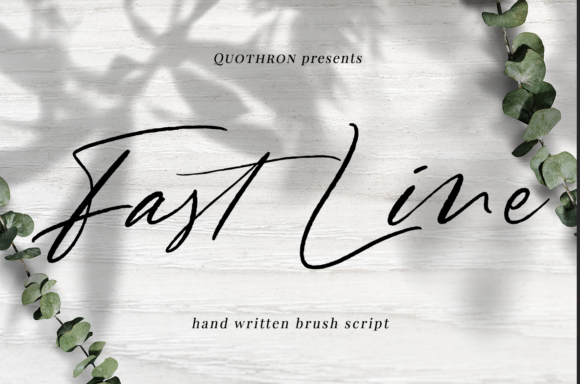 Print on Demand: Fast Line Script & Handwritten Font By it_was_a_good_day
