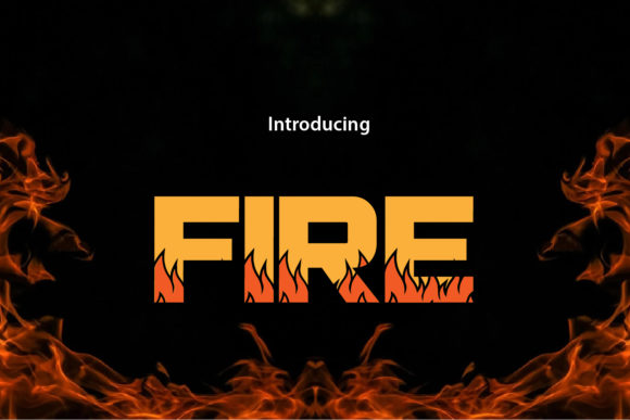 Print on Demand: Fire Display Font By da_only_aan