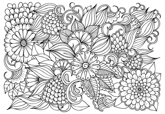 Floral Mandala Coloring Pages Graphic Coloring Pages & Books Adults By ajubayer555