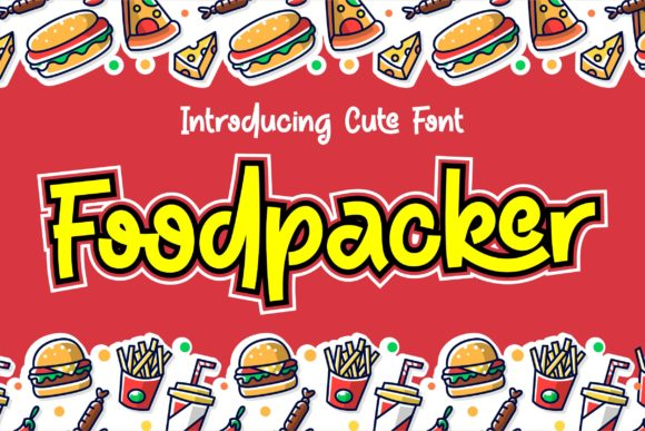 Print on Demand: Foodpacker Display Font By awansenja.type