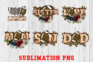 Print on Demand: Football Family Sublimation PNG Gráfico Crafts Por Ten Times Studio