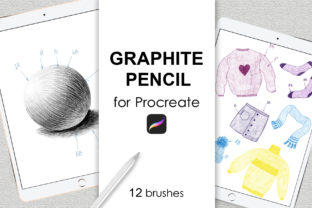 Print on Demand: Graphite Pencil Procreate Brushes Graphic Brushes By SassyDesign