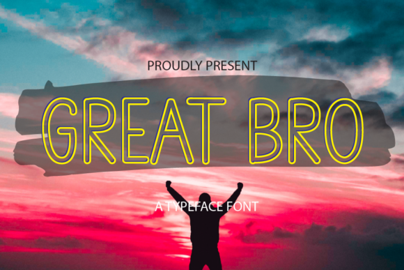 Print on Demand: Great Bro Display Font By merge354