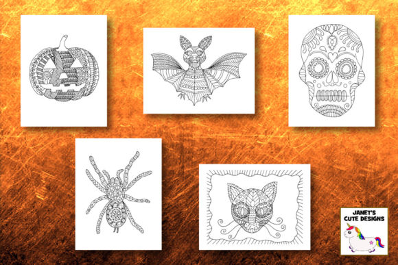 Halloween Coloring Pages Graphic Download
