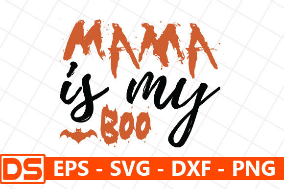 Print on Demand: Halloween Quote Design, Mama is My Boo Graphic Print Templates By Design Store