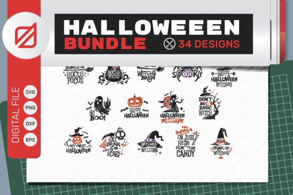 Print on Demand: Halloween Quote and Cutting Graphic Crafts By illusatrian