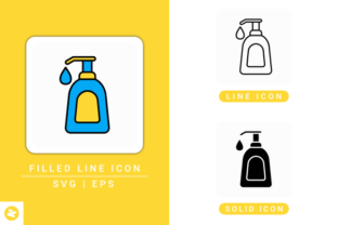 Download Free Hand Sanitizer Icons Set Graphic By Zenorman03 Creative Fabrica PSD Mockup Template