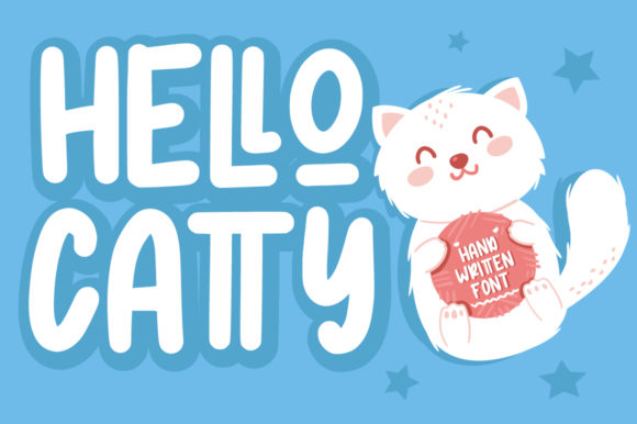 Print on Demand: Hello Catty Display Font By FatmaStudio