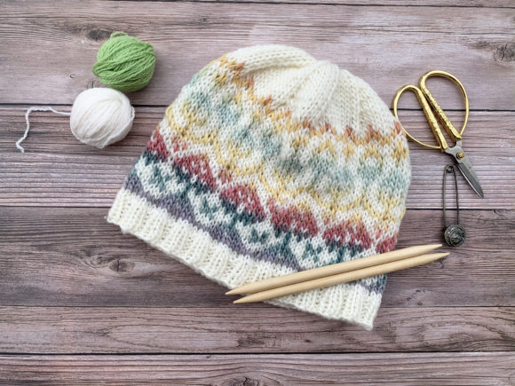In Bloom Beanie Knit Pattern Graphic