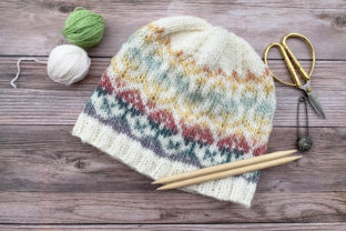 In Bloom Beanie Knit Pattern Graphic Knitting Patterns By Knit and Crochet Ever After