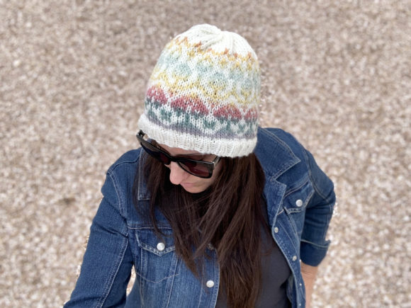 In Bloom Beanie Knit Pattern Graphic Item