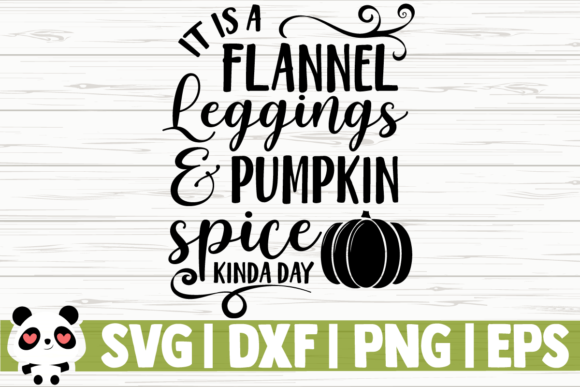 Print on Demand: It is a Flannel Leggings and Pumpkin Graphic Illustrations By CreativeDesignsLLC