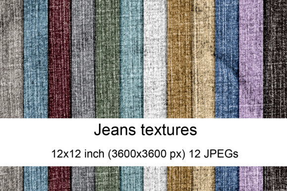 Print on Demand: Jeans Textures Graphic Textures By Andrea Kostelic