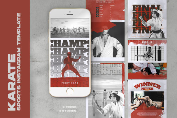 Karate Sports Instagram Templates Graphic Web Templates By qohhaarqhaz