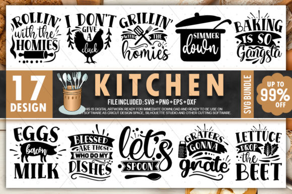 Print on Demand: Kitchen Bundle Graphic Crafts By PrintableSvg