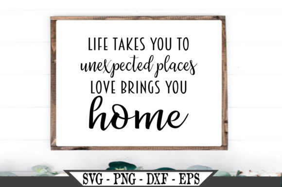 Life Takes You to Unexpected Places SVG Graphic Crafts By Crafters Market Co
