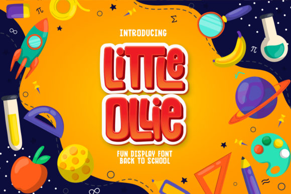 Print on Demand: Little Ollie Display Font By Hydric Design