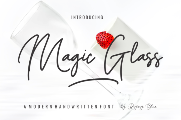 Print on Demand: Magic Glass Manuscrita Fuente Por Reyrey Blue