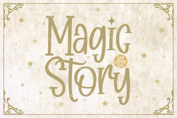 Print on Demand: Magic Story Display Font By Orenari
