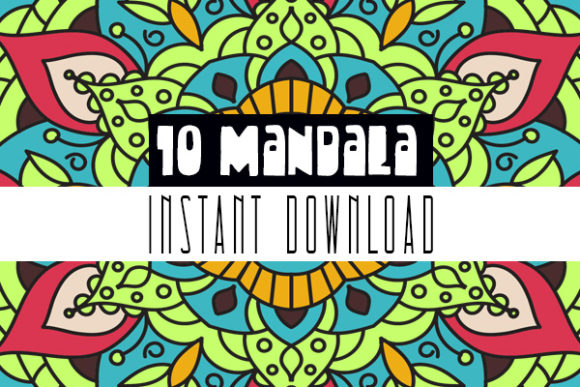Mandala Coloring Book for Kid & Adult V5 Graphic Coloring Pages & Books Kids By Rabbit Art