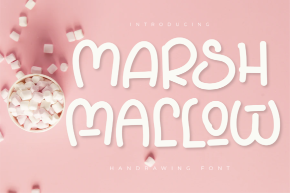 Print on Demand: Marshmallow Display Font By twinletter