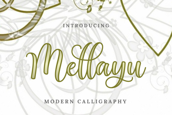 Print on Demand: Mellayu Script & Handwritten Font By Ghuroba Studio