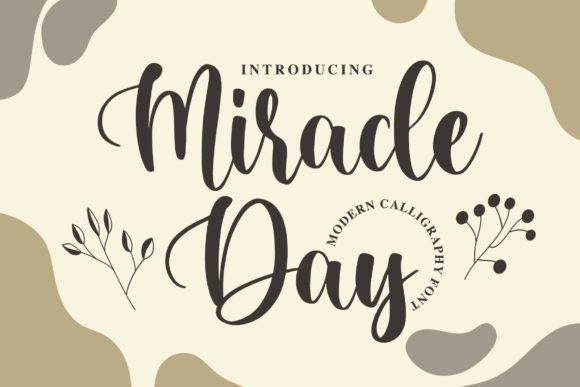 Print on Demand: Miracle Day Manuscrita Fuente Por Blankids Studio