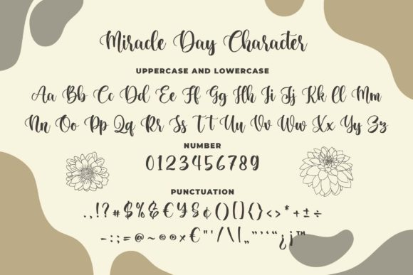 Miracle Day Font Design Item