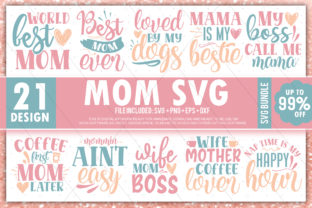 Print on Demand: Mom Quotes Bundle Graphic Crafts By PrintableSvg