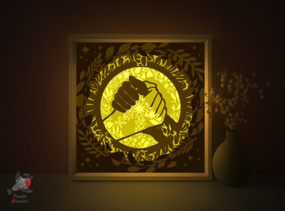 Peace End Racism Lightbox Template Graphic 3D Shadow Box By SweetieGraphics