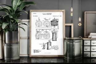 Print on Demand: Process of Making Beer Patent Art Poster Graphic Illustrations By Antique Pixls