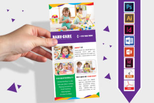 Print on Demand: Rack Card | Baby Care DL Flyer Vol-02 Graphic Print Templates By Imagine Design Studio