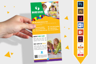 Print on Demand: Rack Card | Baby Care DL Flyer Vol-03 Graphic Print Templates By Imagine Design Studio