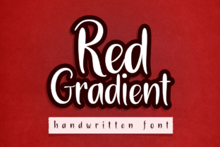 Print on Demand: Red Gradient Script & Handwritten Font By deedeetype