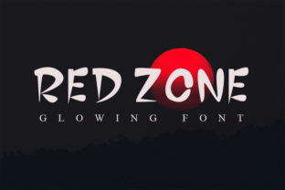 Print on Demand: Red Zone Display Font By FL Space