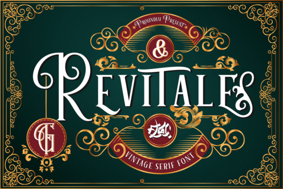 Print on Demand: Revitale Serif Font By Fallengraphic