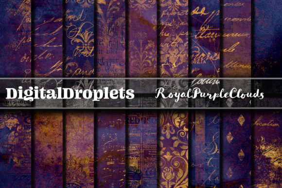 Royal Purple Clouds Graphic Backgrounds By digitaldroplets